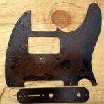 humbucker steel tele control plate
