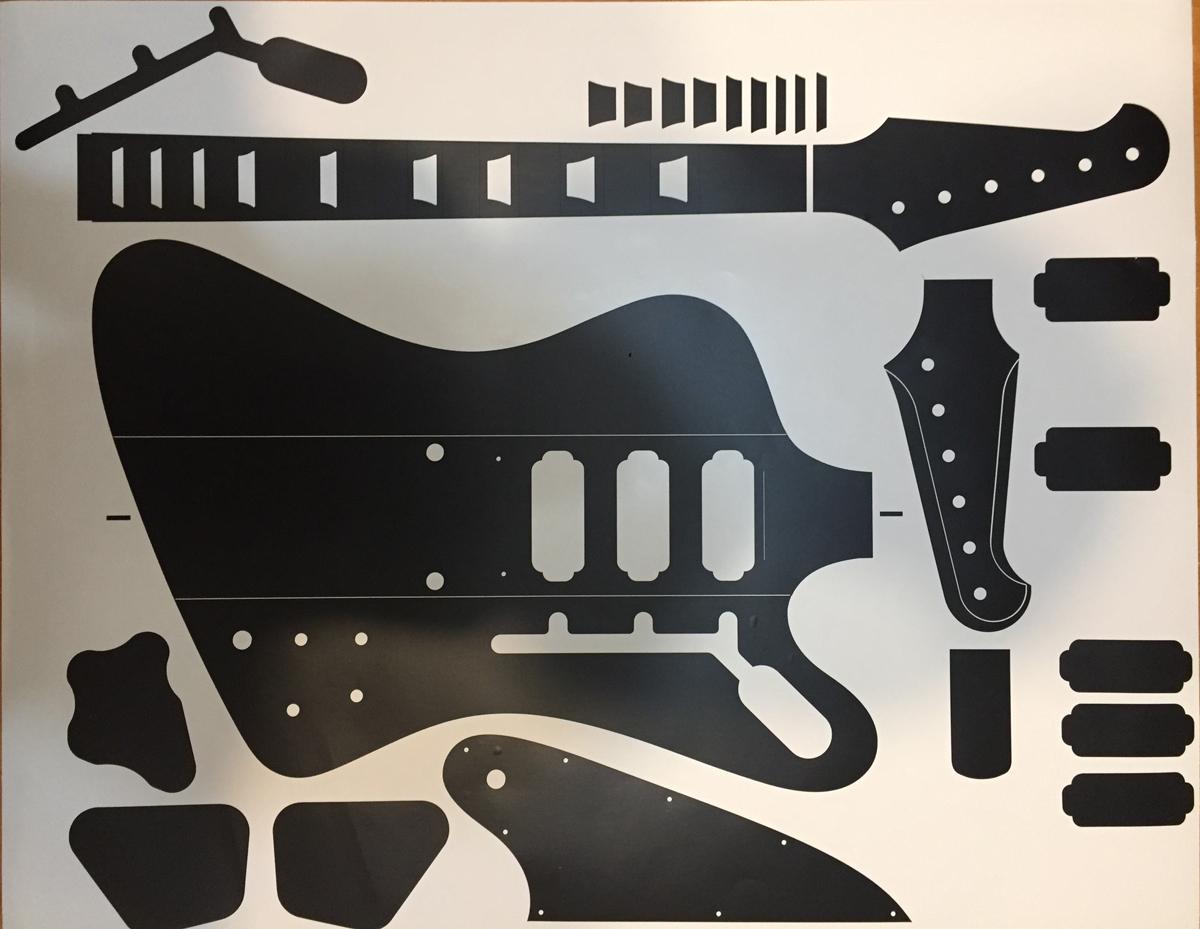 firebird guitar blueprints