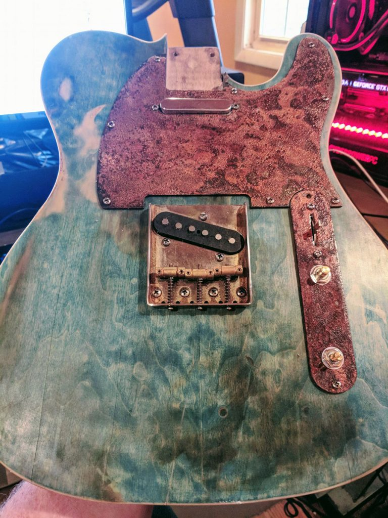 rusted tele build-one of a kind rusted Relics pickguard
