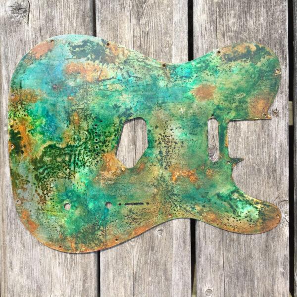 green patina telecaster guitar